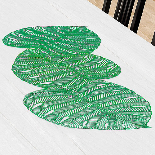 Banana Leaf Vinyl Table Runner Image #1
