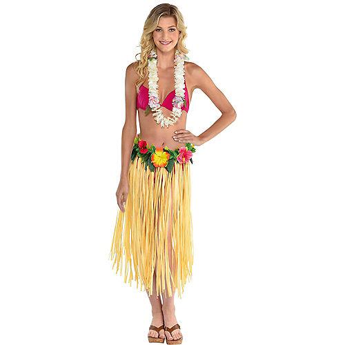 Hibiscus & Grass Hula Skirt Image #1