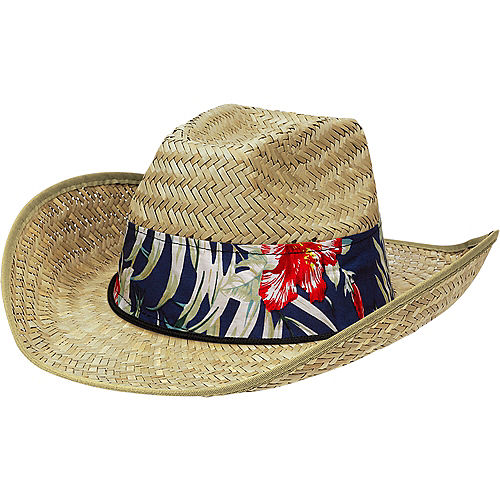 Tropical Straw Cowboy Hat Image #1