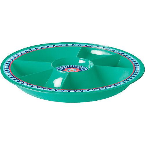 Boho Vibes Summer Mandala Melamine Sectional Platter Image #1