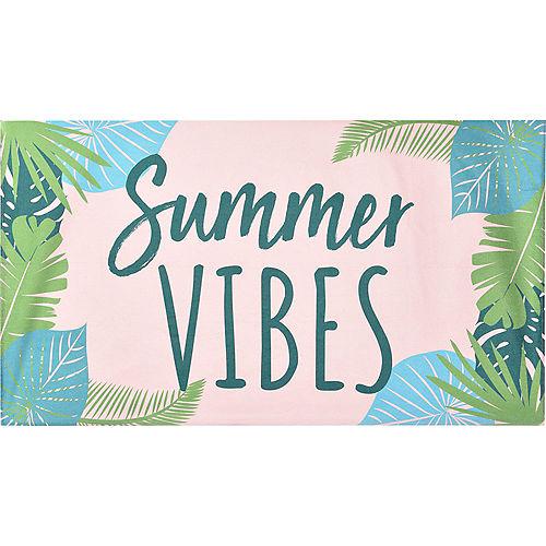 Summer Vibes Botanical Beach Towel Image #1