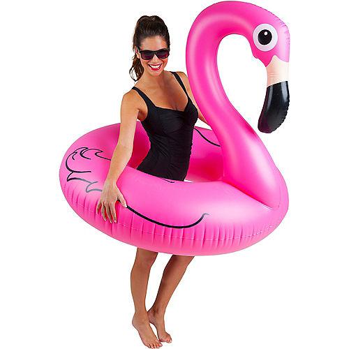 Pink Flamingo Pool Tube Float Image #2