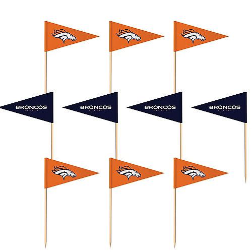 Denver Broncos Flag Picks 36ct Image #1
