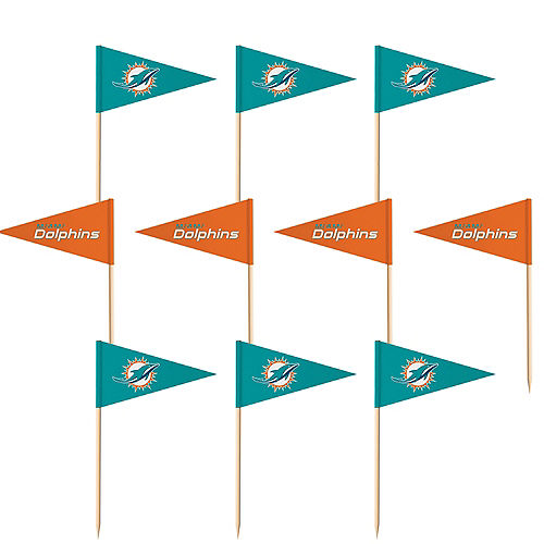 Miami Dolphins Flag Picks 36ct Image #1