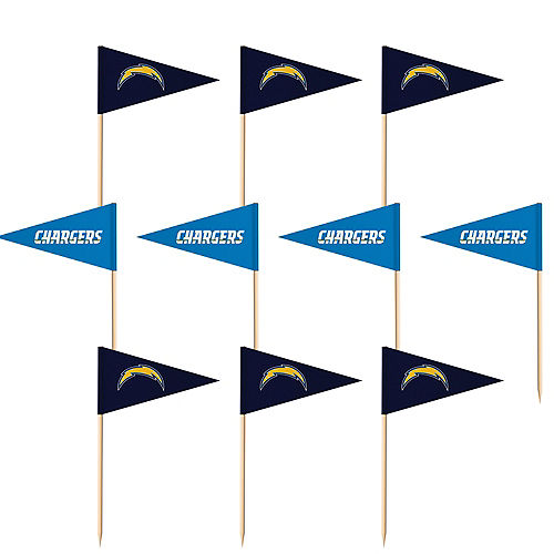 Los Angeles Chargers Flag Picks 36ct Image #1