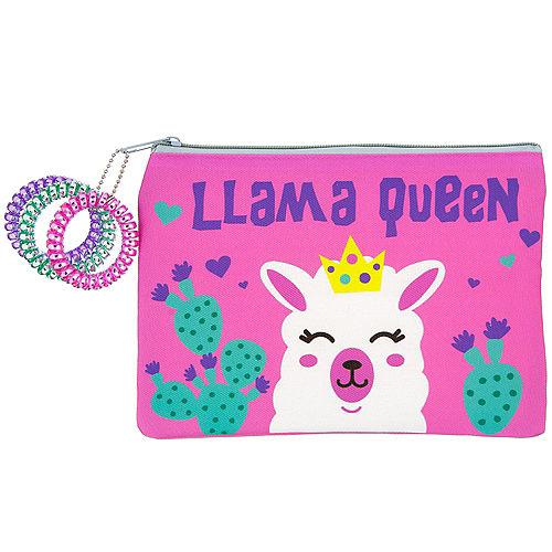Neon Llama Makeup Bag Image #1