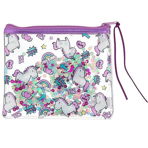 Confetti Shake Unicorn Makeup Bag Image #1