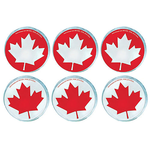 Canada Day Maple Leaf Bounce Balls, 6ct Image #1