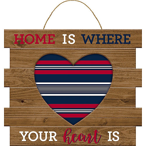 Navy & Red Home Is Where the Heart Is Sign Image #1