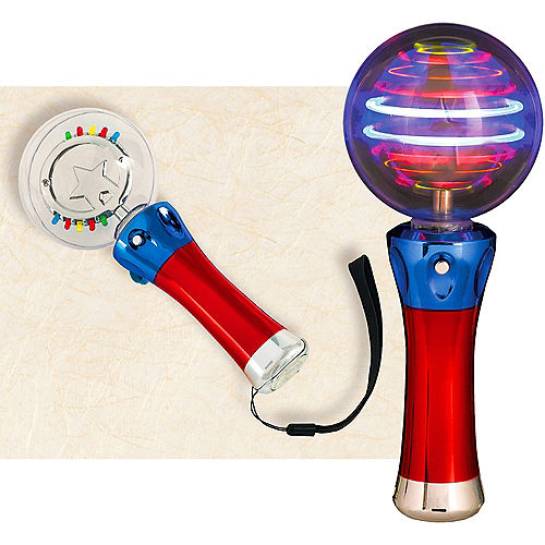 Light-Up Spinning Star Wand Image #1
