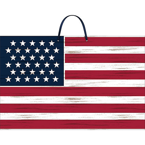 Rustic American Flag Sign Image #1