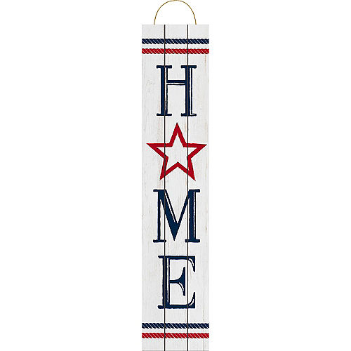 Rustic Patriotic Navy & Red Home Sign Image #1