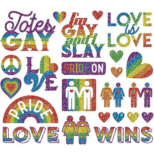 Rainbow Glitter Pride Body Jewelry Image #1