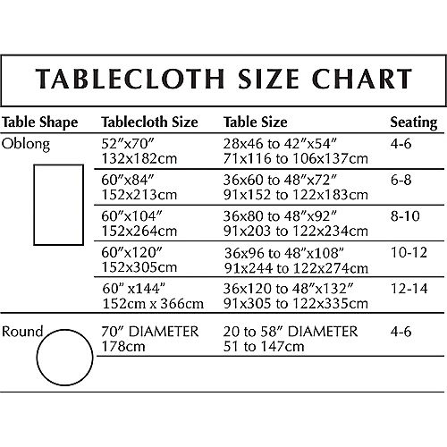 Hexagon Damask Fabric Tablecloth, 60in x 84in Image #2