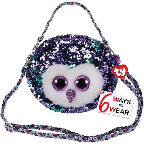 Moonlight TY Fashion Flip Sequin Owl Purse Image #1