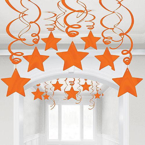 Orange Star Swirl Decorations, 30ct Image #1