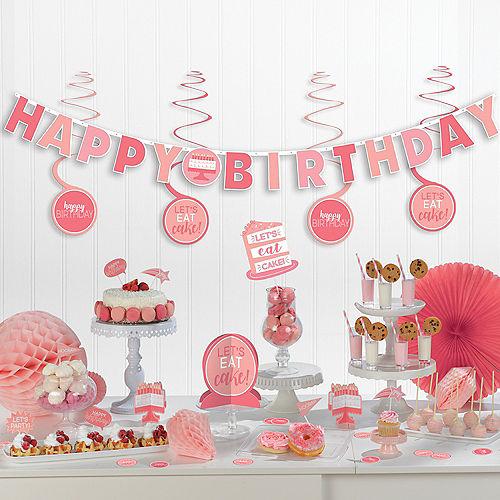 Shades of Pink Birthday Decorating Kit 37pc Image #1