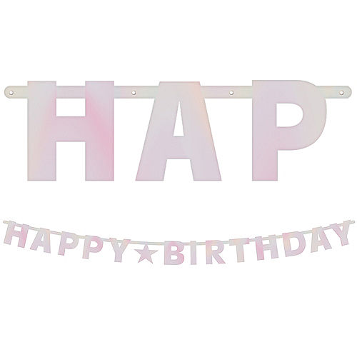 Iridescent Happy Birthday Banner  Kit Image #1