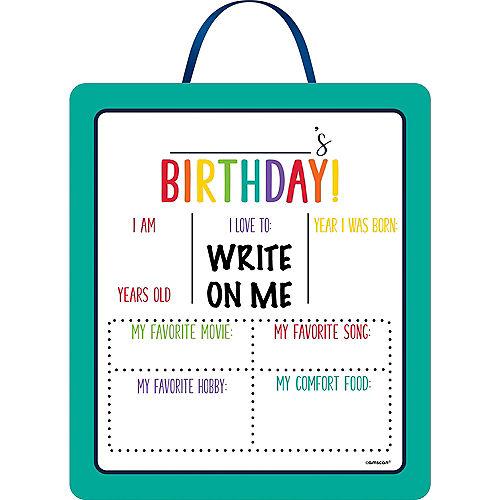 Customizable Rainbow Birthday Easel Sign Image #1