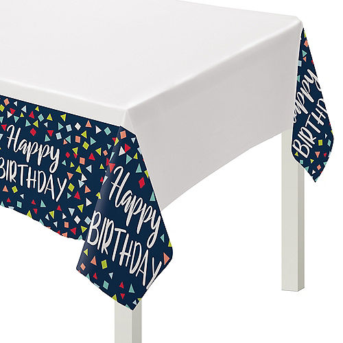 A Reason to Celebrate Plastic Table Cover Image #1