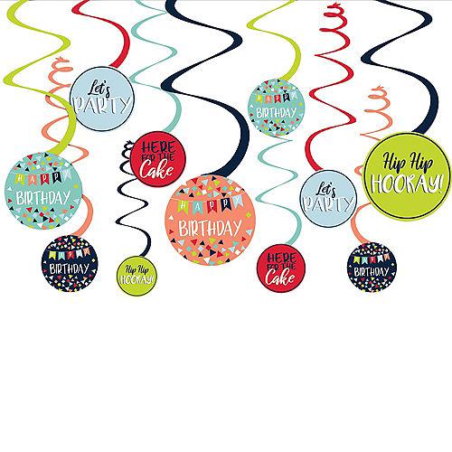 A Reason to Celebrate Swirl Decorations 12ct Image #1