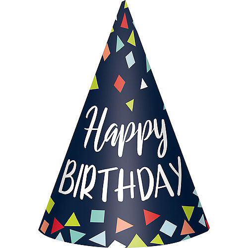 A Reason to Celebrate Happy Birthday Party Hats 8ct Image #1