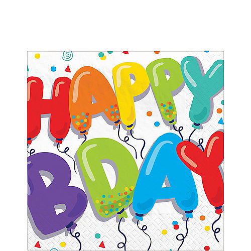 Birthday Balloons Lunch Napkins 36ct Image #1