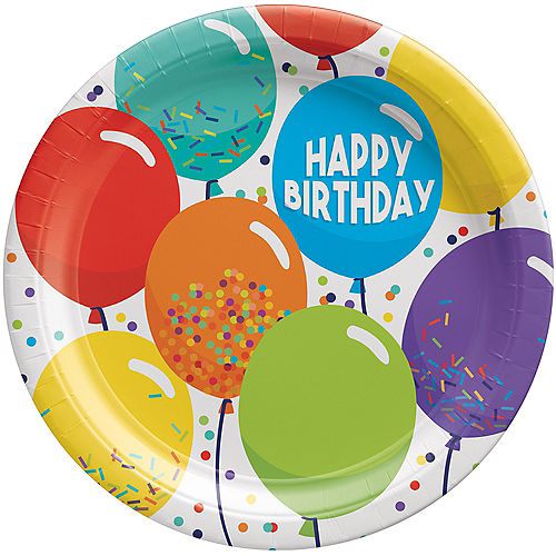 Balloon Birthday Celebration Lunch Plates, 9in, 60ct Image #1