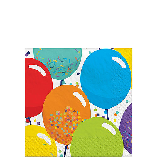 Balloon Birthday Celebration Beverage Napkins 125ct Image #1