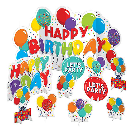 Birthday Balloons Table Decorating Kit 11pc Image #1