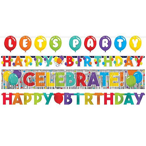 Birthday Balloons Banners 4ct Image #1