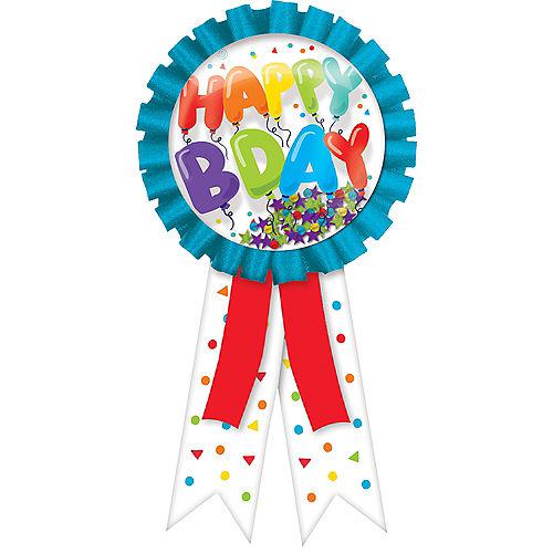 Confetti Shake Birthday Balloons Happy Bday Button Image #1