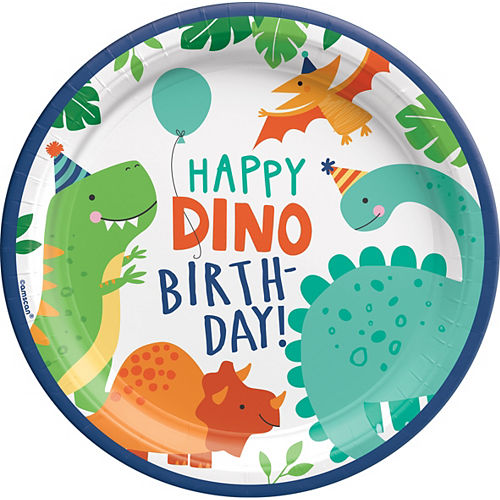 Dino-Mite Lunch Plates 8ct Image #1