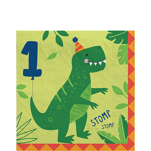 Dino-Mite 1st Birthday Lunch Napkins 16ct Image #1