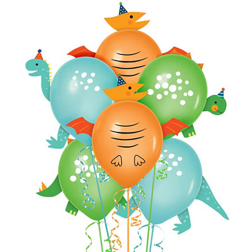 Dino-Mite Balloon Decorating Kit 6ct Image #1