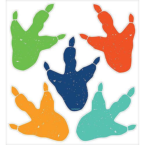Dinosaur Footprint Cling Decals 10ct Image #1