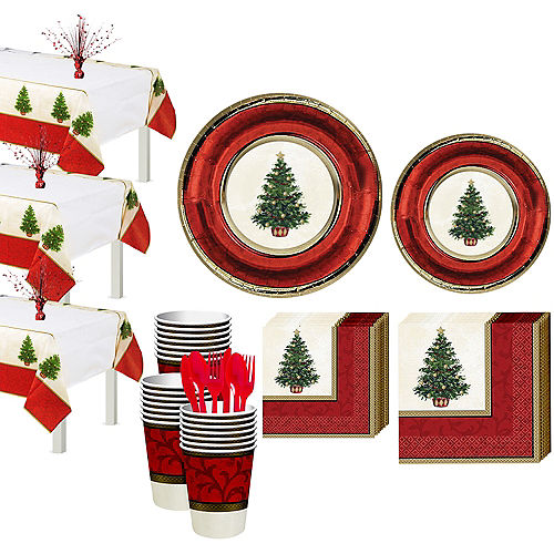 Classic Christmas Tree Tableware Kit for 56 Guests Image #1