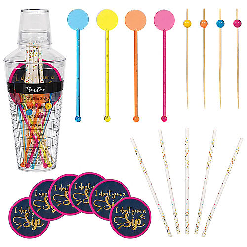 Bright Multicolor Cocktail Shaker Kit Image #1