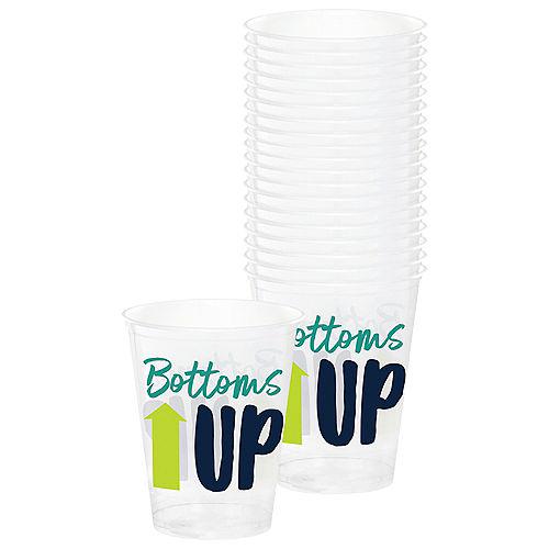 Bottoms Up Plastic Cups, 16oz, 20ct Image #1