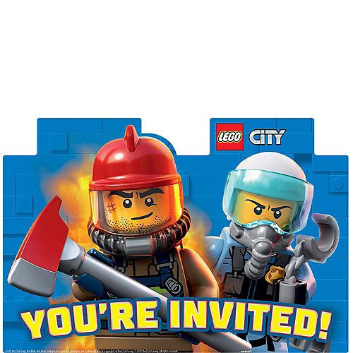 LEGO City Invitations 8ct Image #1