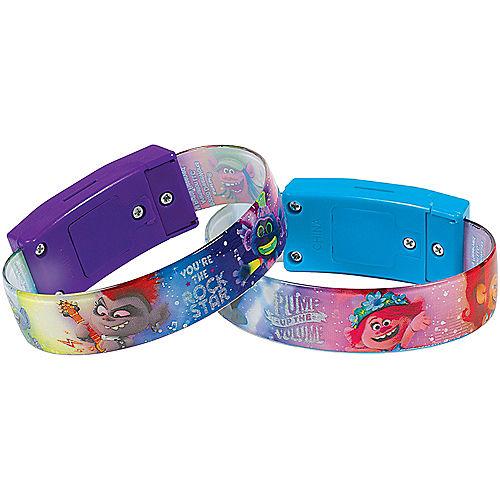 Light-Up Trolls World Tour Bracelets 4ct Image #1