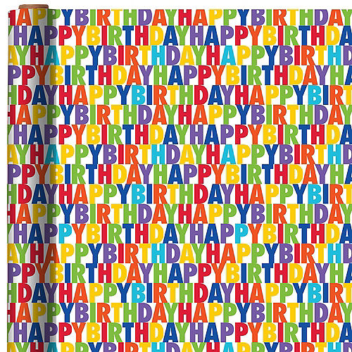 Happy Birthday Letter Gift Wrap Image #1