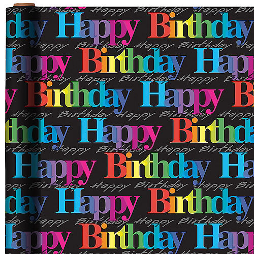 Rainbow Happy Birthday Gift Wrap Image #1