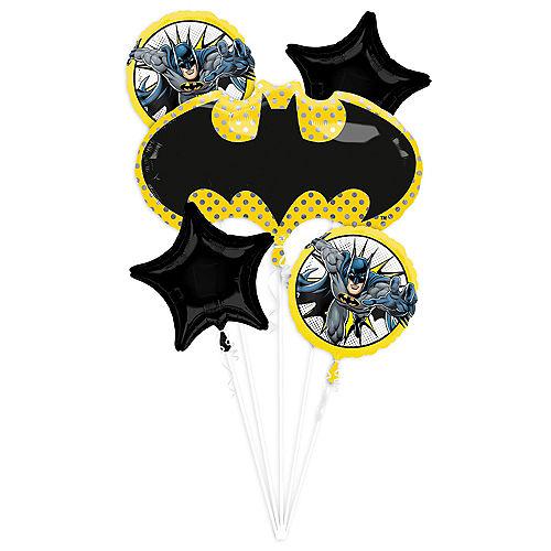 Batman Balloon Comics Bouquet 5pc Image #1