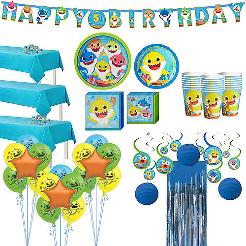 Baby Shark Ultimate Birthday Party Kit for 24 Guests Image #1