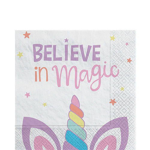 Unicorn Party Tableware Kit for 8 Guests Image #5