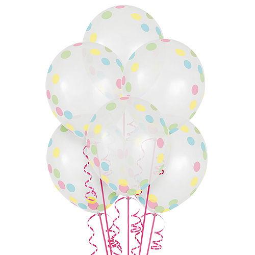 Pretty Pastels Confetti Balloons 6ct Image #1
