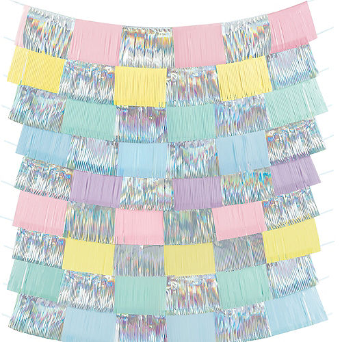 Pretty Pastels Fringe Banners 9ct Image #1