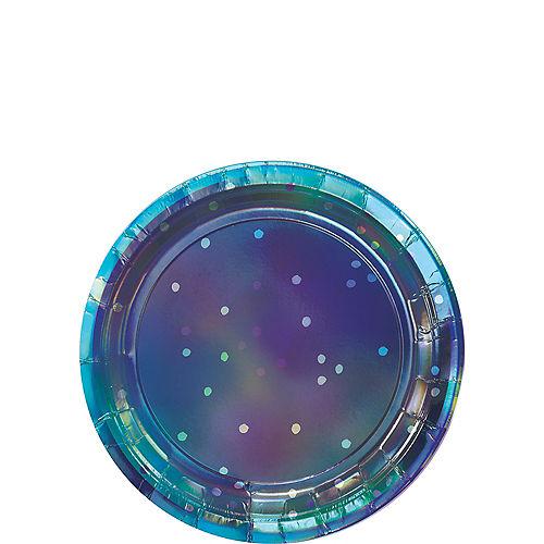 Sparkling Sapphire Dessert Plates 8ct Image #1