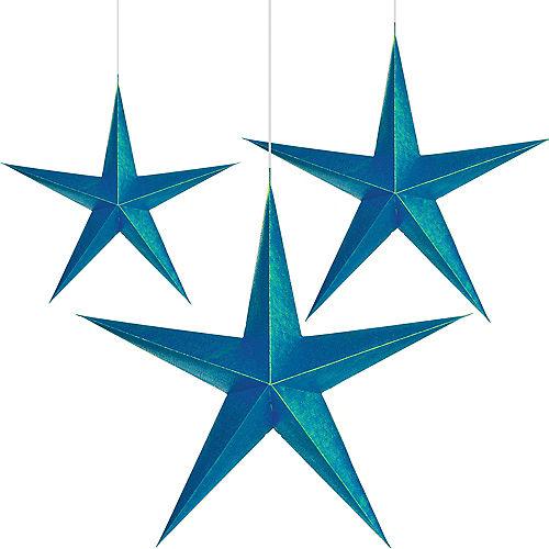 Sparkling Sapphire 3D Star Decorations 3ct Image #1